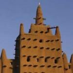 Detail van de moskee van Djenné