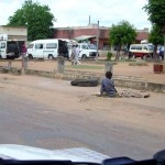 Straatbeeld in Mozambique,
