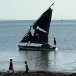 De kust van Mozambique