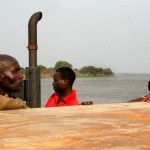 De pont over de Zambezi-rivier
