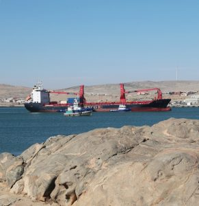 De huidige haven Van Lüderitz