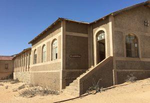Het voormalig ziekenhuis in Kolmannskuppe