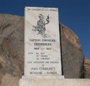 Monument voor de Nama-slachtoffers van Bethanië op Shark-Island