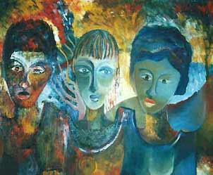 3 woman faces