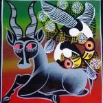 Schilderij Tingatingastijl