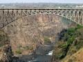 De brug over de Victoria Falls