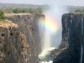 De Victoria Falls met weinig water